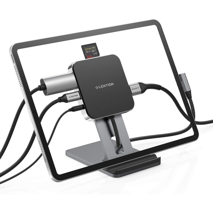 Macbook docking station - SD/Micro SD Card Reader, USB 3.0 and 100W Charging Adapter.