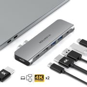 LENTION USB C Portable Hub|Compatible with Exclusive design for New MacBook Pro\Air with Thunderbolt 3 ports: MacBook Pro 13/15/16  - Dual 4K HDMI for Multiple Screens Display -  Lention.com