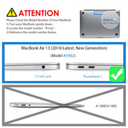 LENTION Hard Case for MacBook Pro (Retina, 15-inch, Mid 2012 to Mid 2015) - Model A1398, with Keyboard Cover and Port Plugs, Glossy Finish Case with Rubber Feet
