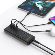 LENTION Powered 7 USB 3.0 Multiport Hub with 3 Smart Charging(CB-H92) (US Warehouse In Stock)