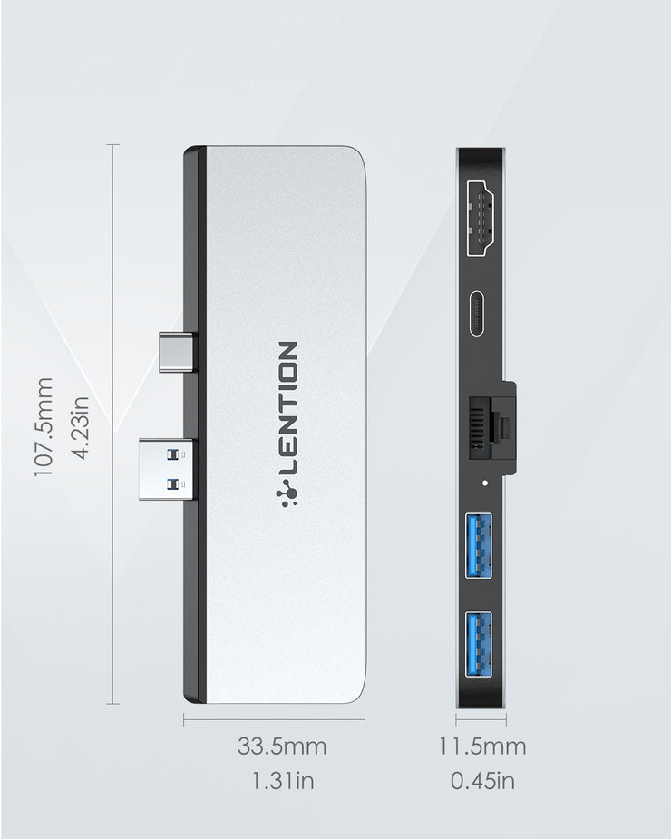 LENTION 5-in-1 USB C Hub for Surface Pro 7 Only (CB-CS35)