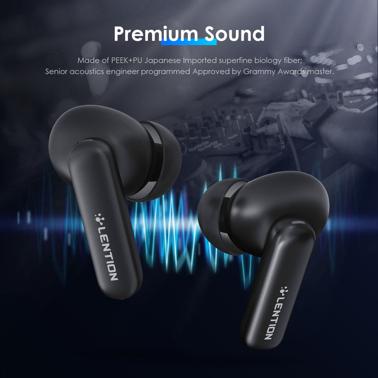 LENTION Hybrid ANC True Wireless Earbuds Touch Control with Wireless Charging Case Bluetooth 5.0  Headphones(TWS-T2-ANC)