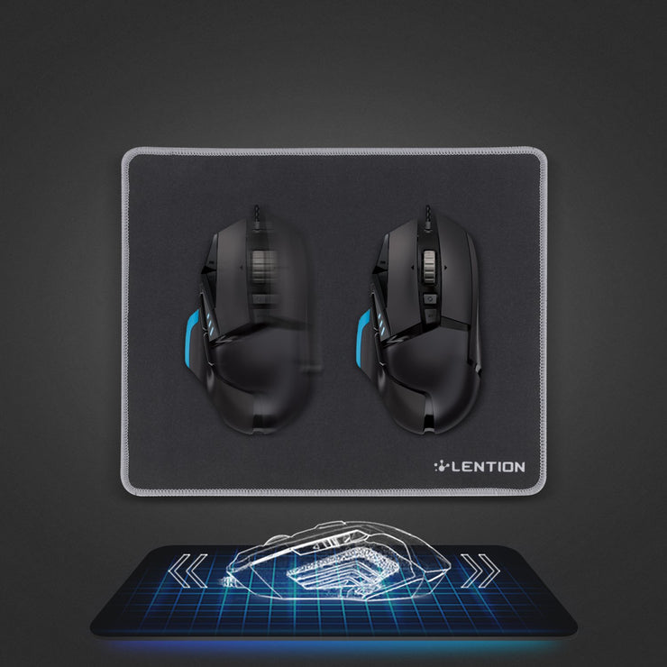 LENTION Mouse Pad with Stitched Edge, Premium-Textured Mouse Mat, Non-Slip Rubber Base Mousepad for Laptop, Computer & PC