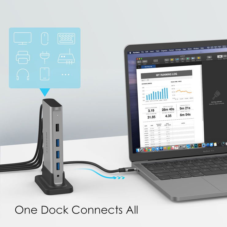 Powerful Than Most Hubs - The LENTION Universal USB-C Docking Station (CB-D53) (US/UK/CA Warehouse in Stock)