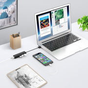 LENTION USB-A to 3 USB 2.0 Ports Hub with RJ45 LAN Adapter-$15.99| Lention.com