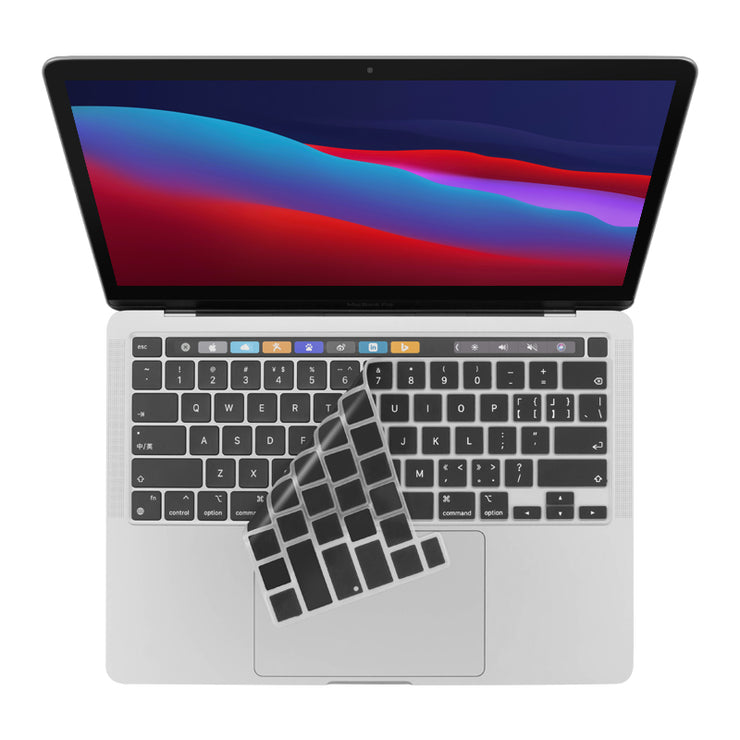 LENTION Silicone Keyboard Cover Skin for New MacBook Pro 16/ 2020 MacBook Pro 13, with Multi-Touch Bar(US Layout) (S130)