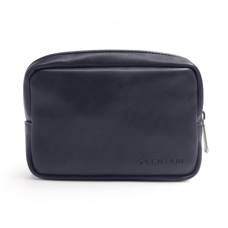 LENTION Split Leather Carrying Storage Pouch for Laptop Universal Electronic Accessories (PCB-M320)