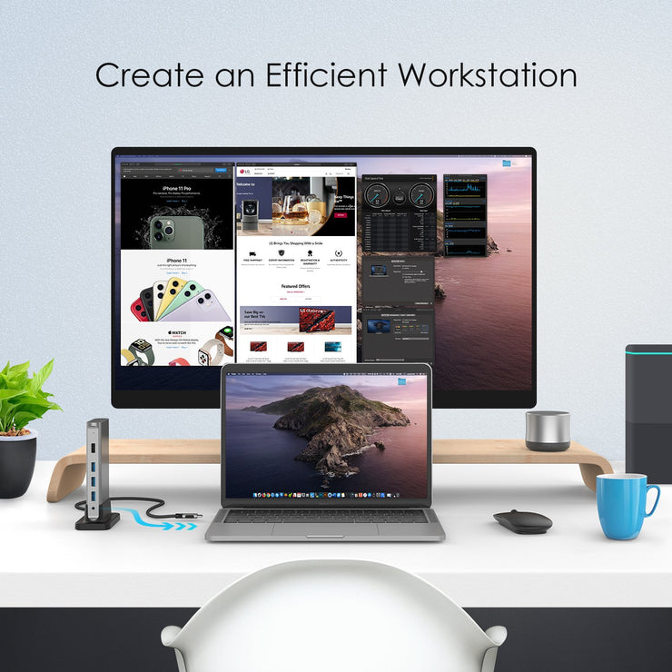 Lention USB-C Universal docking station,CB-D53: Lention.com: Computers &  Accessories