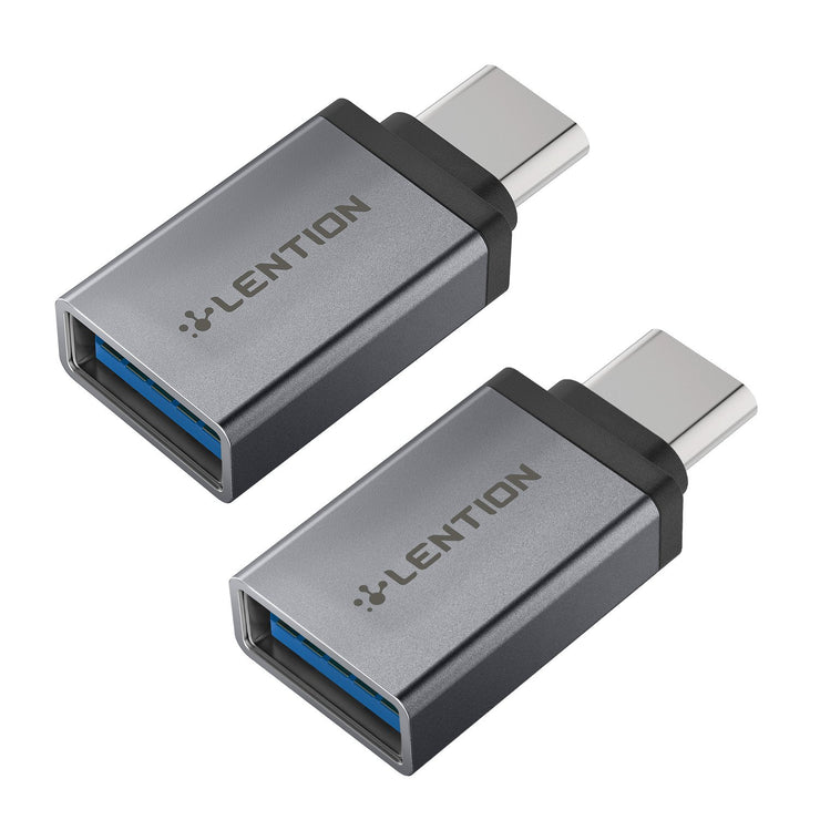 LENTION USB C to USB 3.0 Adapter (2 Pack)