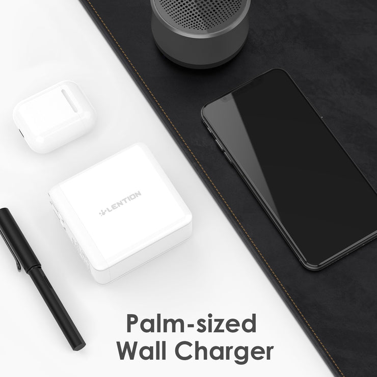 Lention.com: USB Wall Charger, 60W USB C Wall Charger with Fast Charge PD Adapter | Lention- Fashionable Mobile  Accessories Compatible with MacBook Pro 2019 2018 2017 2016 / MacBook Air 2019 2018 / MacBook 12: Electronics