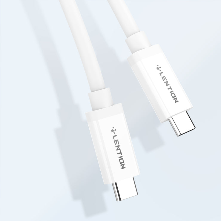 Lention.com: Lention.com 3.3ft Micro USB Cable - Type C to Type C Cable - USB 3.1 Gen2 and PD 3.0- 3.3ft - White & Black  (CB-PC320): Electronics