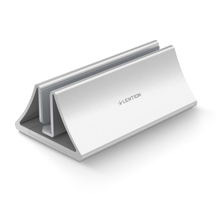 LENTION Aluminum Space-Saving Vertical Desktop Stand | Lention.com