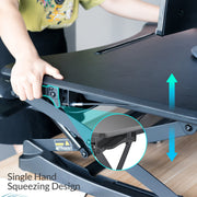 "Height Adjustable Standing Desk Monitor Riser | 35""  Tabletop Sit Stand Workstation (VM-SD10) - Lention.com - Lention.com"