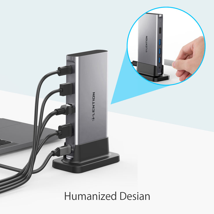 LENTION Universal USB-C Docking Station 4K60Hz (CB-D53s)