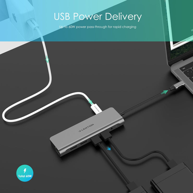 LENTION 9 in 1 USB C Hub | Buy Online in US/UK/CA | Lention.com
