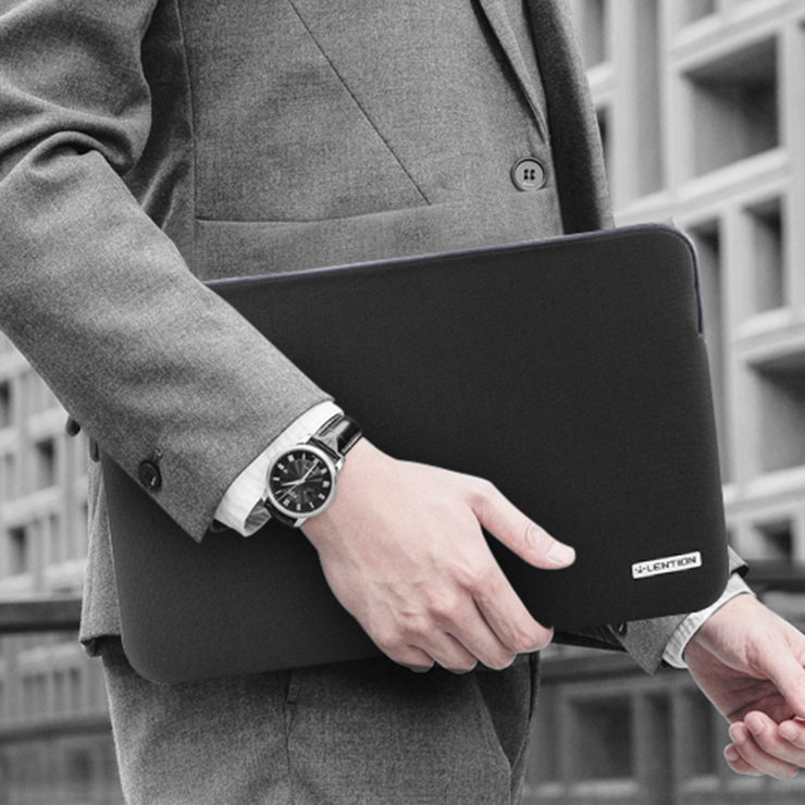 Neoprene Series Zipper MacBook Sleeve Case Compatible 13/ 14/ 15 inches slim laptop - Lention.com