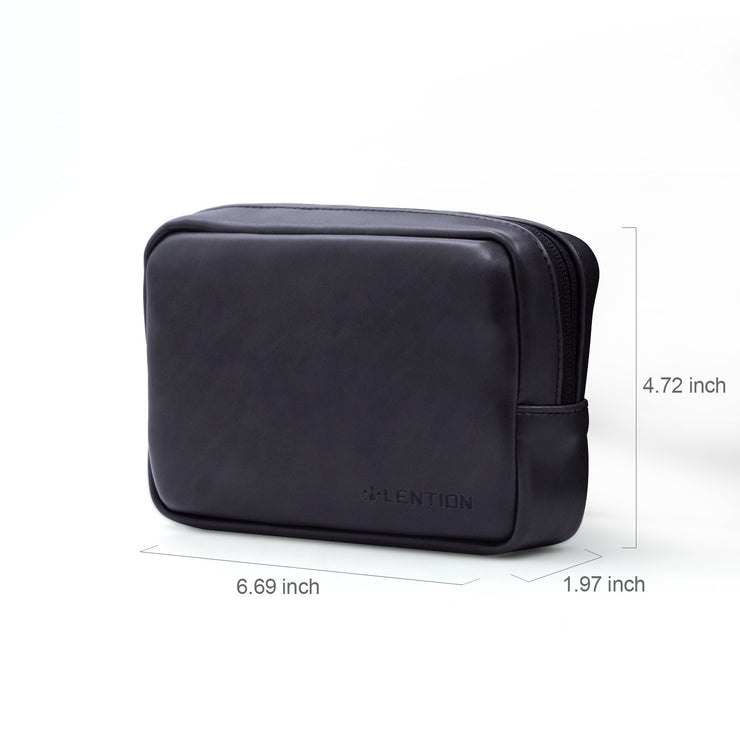 Lention.com: Universal Electronics Accessories Split Leather Carrying Storage Pouch, Small Portable Storage Bag,Compatible with Power Adapters for MacBook Air 11 / 13, MacBook 12, MacBook Pro 13 / 15, notebooks (Only the small size ones): Computers &  Accessories
