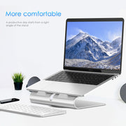 Lention.com: Lention Laptop Stand, Improved PC Stand, 360° Rotating Laptop Notebook Stand, Adjustable Height/Angle,Computer  Stand: Office  Products
