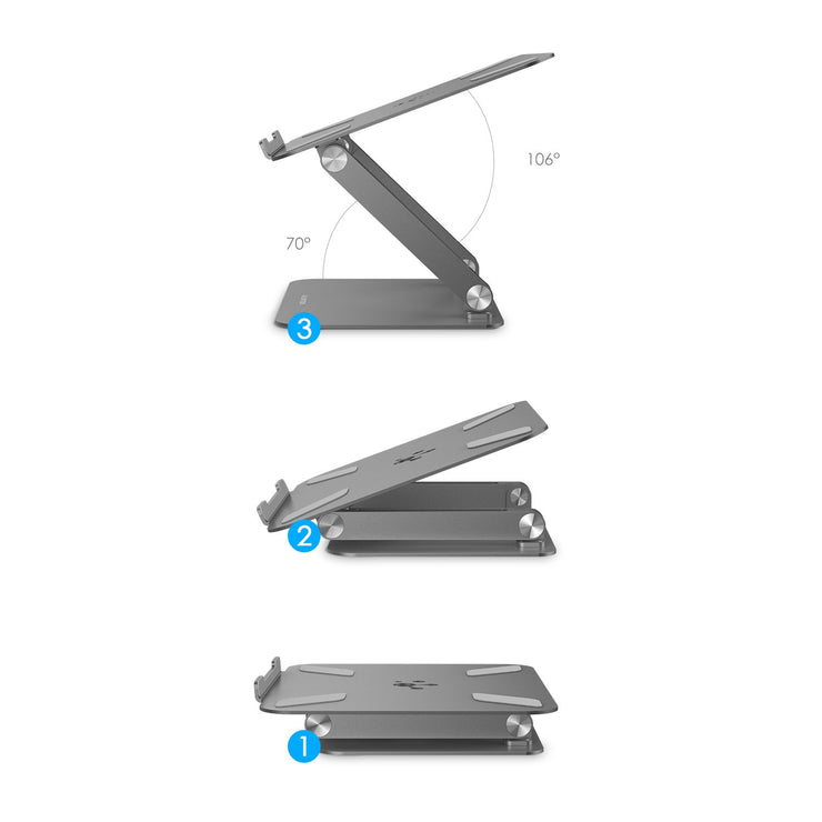 LENTION L5 Adjustable Height with Multiple Angle Laptop Notebook Stand with Adjustable Riser