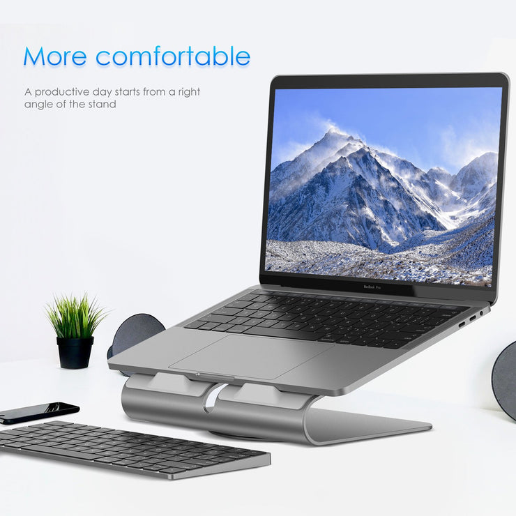 Lention Laptop Stand, Ergonomic Aluminum Laptop Mount Computer Stand,  Detachable Laptop Riser Notebook Holder Stand Compatible with MacBook Air 11/13, MacBook Pro 13/15 - Space Gray/Silver- Buy Online in