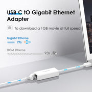 Lention HU404GE USB A 3.0 1000M Gigabit Ethernet Adapter-Lention.com-Lention.com