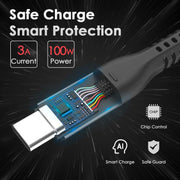Lention USB C to USB C Fast Charging Cable, Type C 20V/5A Fast Charging Braided Cord | ID:  CB-CCT