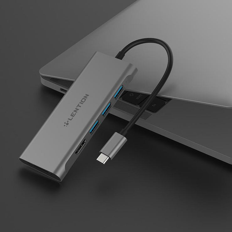 LENTION USB C Hub with 4K HDMI, 3 USB 3.0, SD 3.0 Card Reader - $25.99 -  US/UK/CA Warehouse In Stock| Lention.com