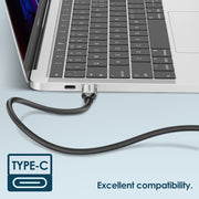 LENTION USB C 3.1 Gen 2 3.3ft Cable, 100W Charging+10Gbps Data+4K/60Hz Video Braided Cord Compatible 2020-2016 MacBook Pro, New iPad Pro/Mac Air/Surface, Samsung S20/S10/S9/S8/Note,