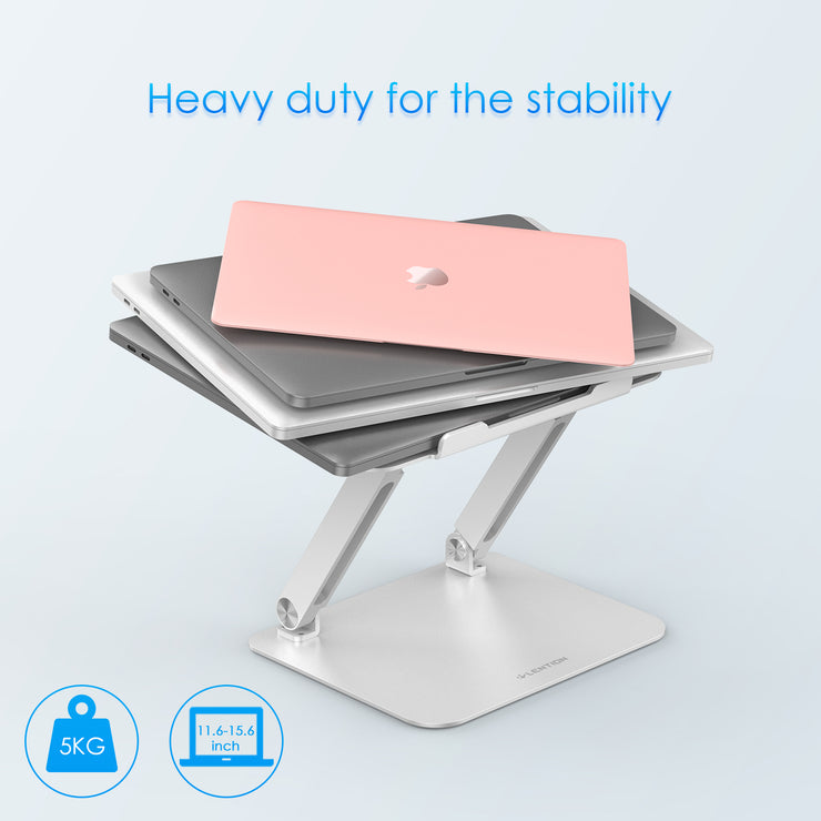 LENTION L5 Adjustable Height with Multiple Angle Laptop Notebook Stand with Adjustable Riser (Stand-L5)