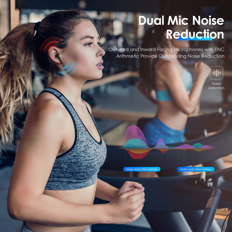 Wireless Earbuds, Lention Bluetooth 5.0 Headphones True Wireless Earbuds Touch Control IPX4  Waterproof Dual Built-in Mic Earphones with Charging Case for 20H Extended Playtime - Lention.com