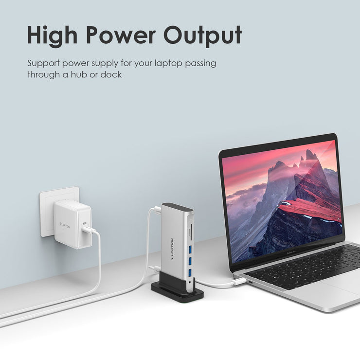 Lention.com: USB Wall Charger, 60W USB C Wall Charger with Fast Charge PD Adapter Compatible with iPhone 11 / 11 Pro / XS / Max / XR / X / 8 / 8 Plus / iPad Pro (with iOS 12 and later versions)