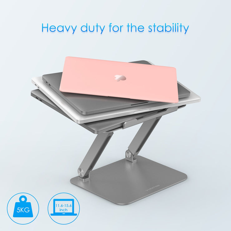 Lention.com: Lention Laptop Stand, L5 Adjustable Height Laptop Stand Desk Riser with Multiple Angle,Computer Stand: Office  Products