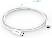 LENTION 100W USB-C to USB-C Cable 3.3ft (USB 3.1 Gen2 10Gbps, PD 3.0)(CB-PC340)