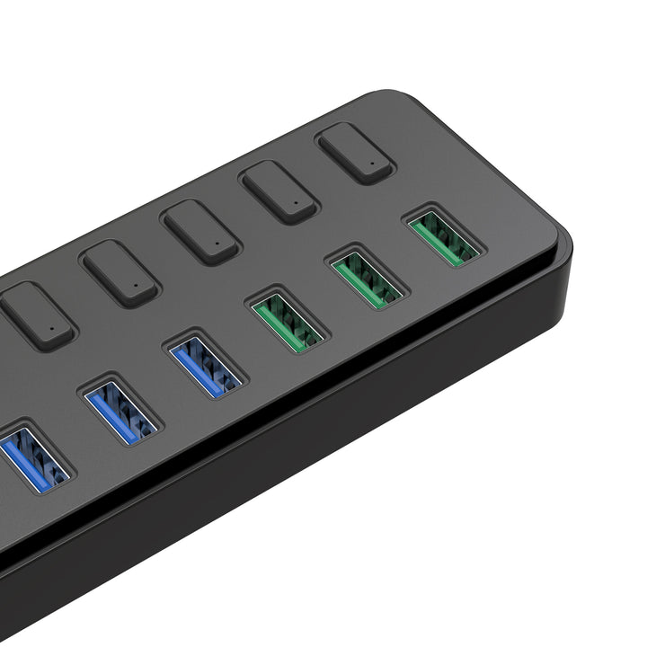 LENTION Powered 7 USB 3.0 Multiport Hub with 3 Smart Charging | Lention.com