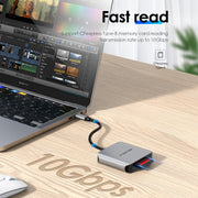 LENTION USB-C to CF Card Reader, SD 3.0 Card Adapter (CB-C9)