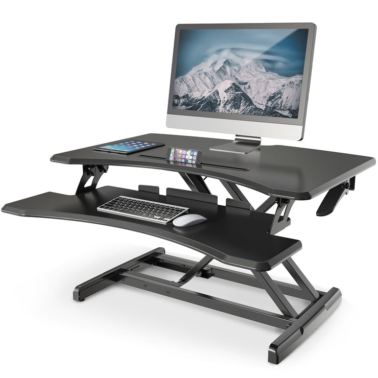Stand Height Adjustable Standing Desk &  Standup Computer Riser Converter | Lention