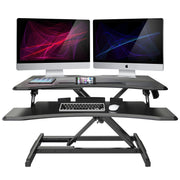 "Lention.com : LENTION Standing Desk Converter - 30"" Height Adjustable  Stand Up Desk Riser - Sit to Stand Desktop Workstation : Office Products"