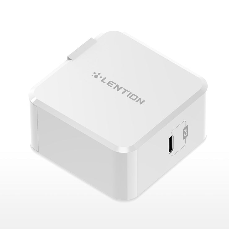 29W USB C Wall Charger with Fast Charge PD Adapter (White/Black) — Lention.com