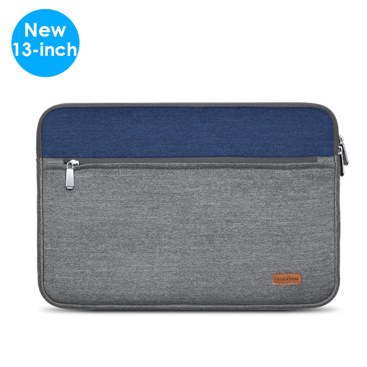 LENTION Gray & Blue Briefcase for MacBook Air/Pro and More (PCB-C500 Series)