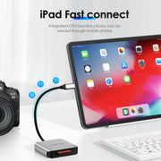 LENTION USB-C to CF Card Reader For Apple 2016-2020 MacBook Pro 13/15/16, MacBook 12, 2018-2020 MacBook Air & iPad Pro| Lention.com