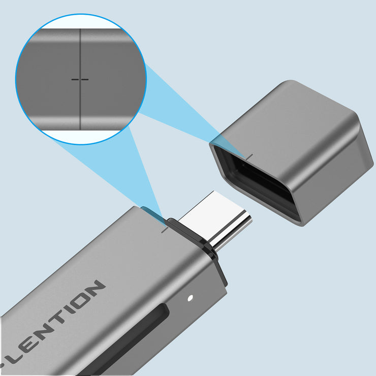 LENTION USB C to SD/Micro SD Card Reader, Type C SD 3.0 Card Adapter Compatible 2020-2016 MacBook Pro 13/15/16, New Mac Air/iPad Pro/Surface, Samsung S20/S10/S9/S8/Plus/Note, More (CB-C7) (US Warehouse in Stock)