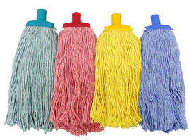 Cotton mops, colour coded