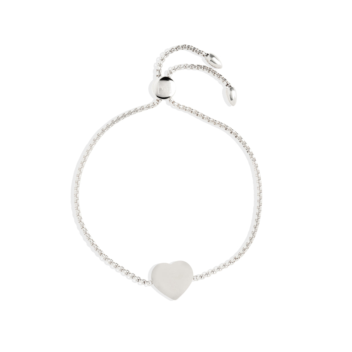 Heart Bracelet - Rhodium