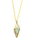 Diamond Stone Necklace - Gold - Aquamarine