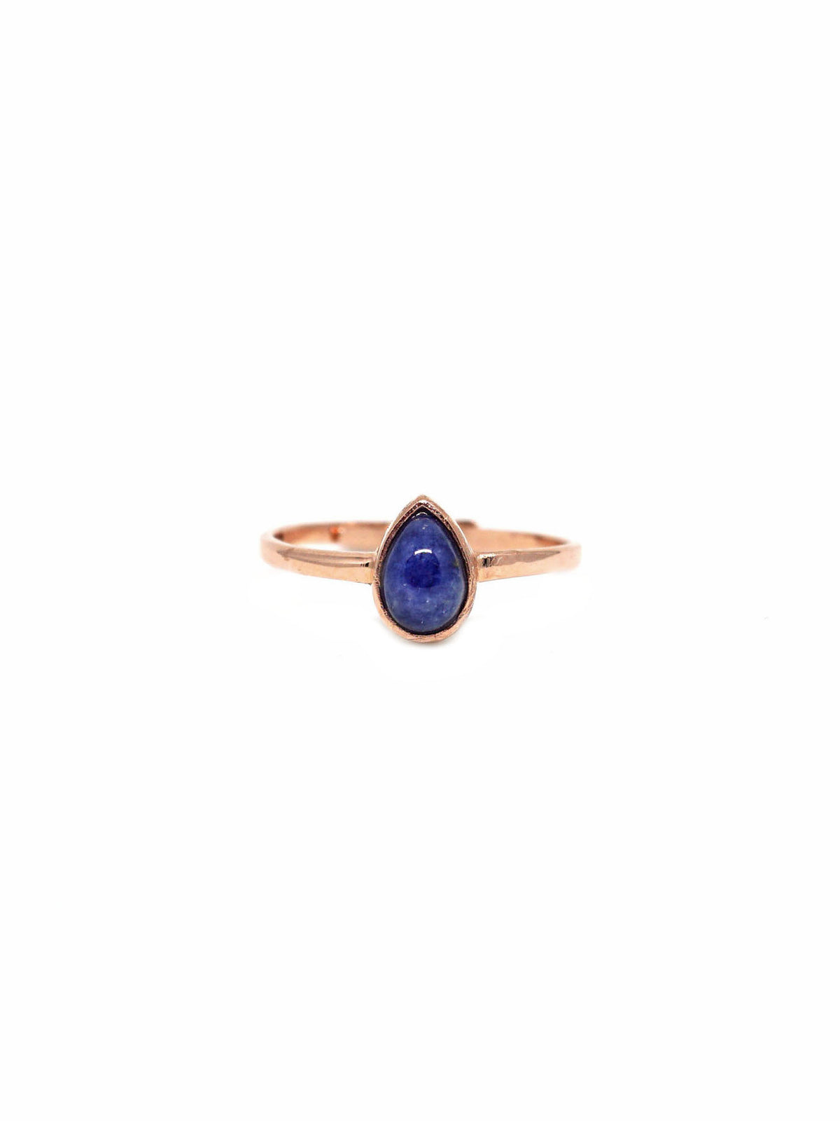 Dew Drop Ring - Rose Gold - Blue Sapphire