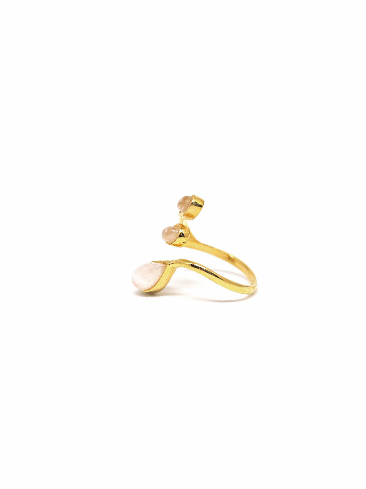 Dew Trio Ring - Gold - Moonstone