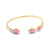 Euclidean Bangle - Gold - Rhodochrosite