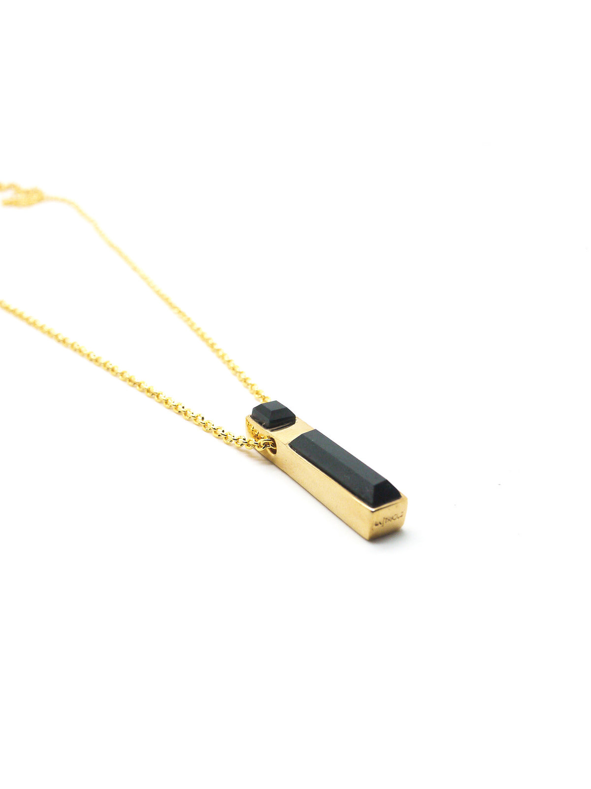 Linear Necklace - Gold - Onyx