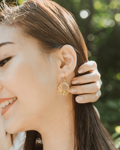 Ixora Round Earrings