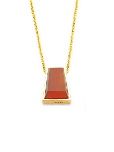 Pharaoh Long Necklace - Carnelian